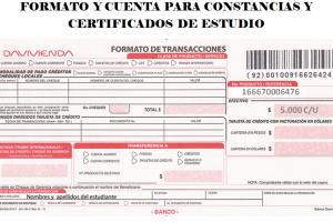 FORMATO Y CUENTA PARA CONSTANCIAS Y CERTIFICADOS DE ESTUDIO